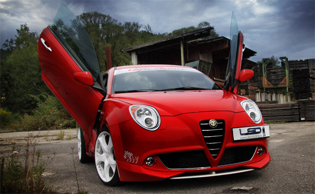 alfa romeo mito with gullwing doors autoevolution. Black Bedroom Furniture Sets. Home Design Ideas
