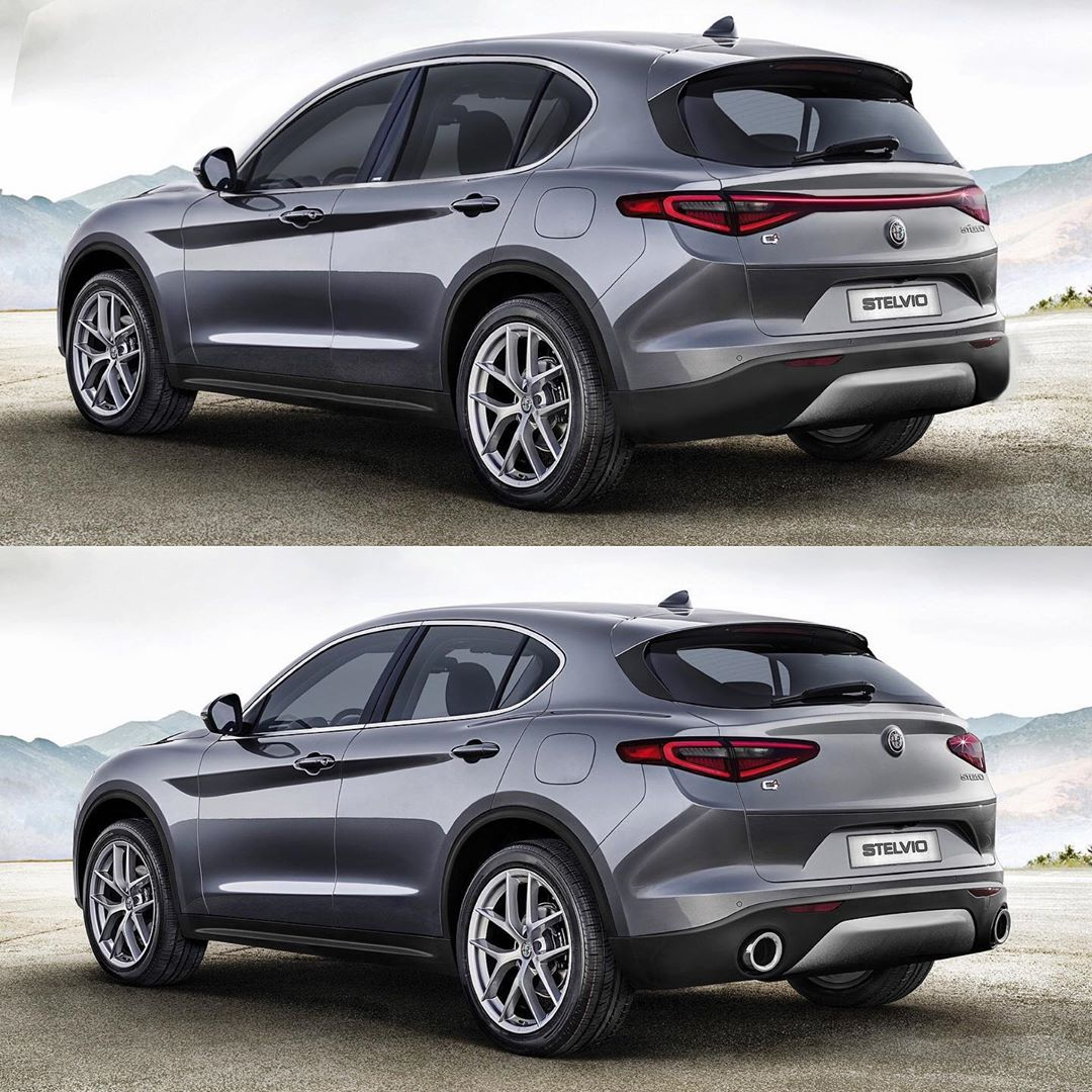 Alfa Romeo Stelvio Facelift Rendering Looks Doable