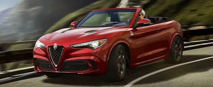 Alfa Romeo Stelvio Quadrifoglio Spider Rendering Is So