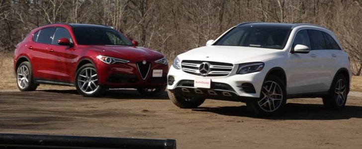 Alfa romeo stelvio vs mercedes benz glc more different for Alfa romeo vs mercedes benz