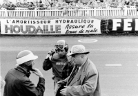 "John Le Mans 1955: Fitch (left), Pierre Levegh, who had a fatal accident later in the race, and the ""big man"" himself, Alfred Neubauer (right)."