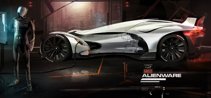 Alienware Race Car Concept Imagined [Video]