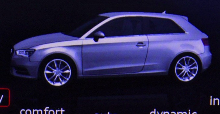 All New 2013 Audi A3 Revealed On Ces Interior S Display