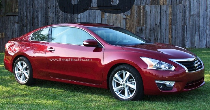All-New 2014 Nissan Altima Coupe Rendering