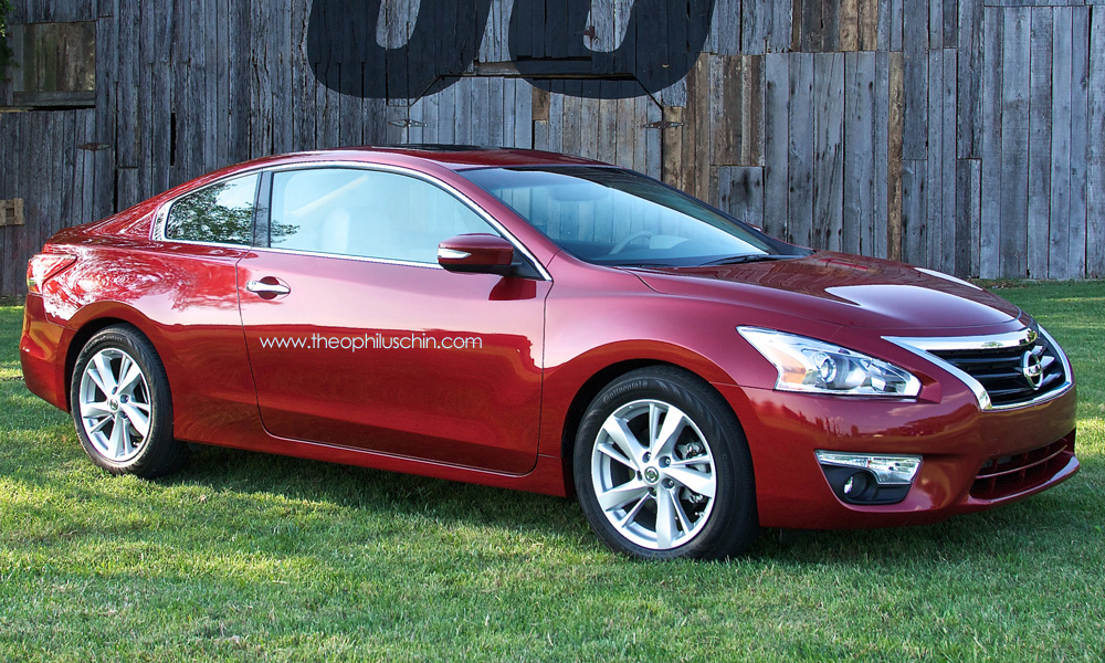 all new 2014 nissan altima coupe rendering autoevolution. Black Bedroom Furniture Sets. Home Design Ideas