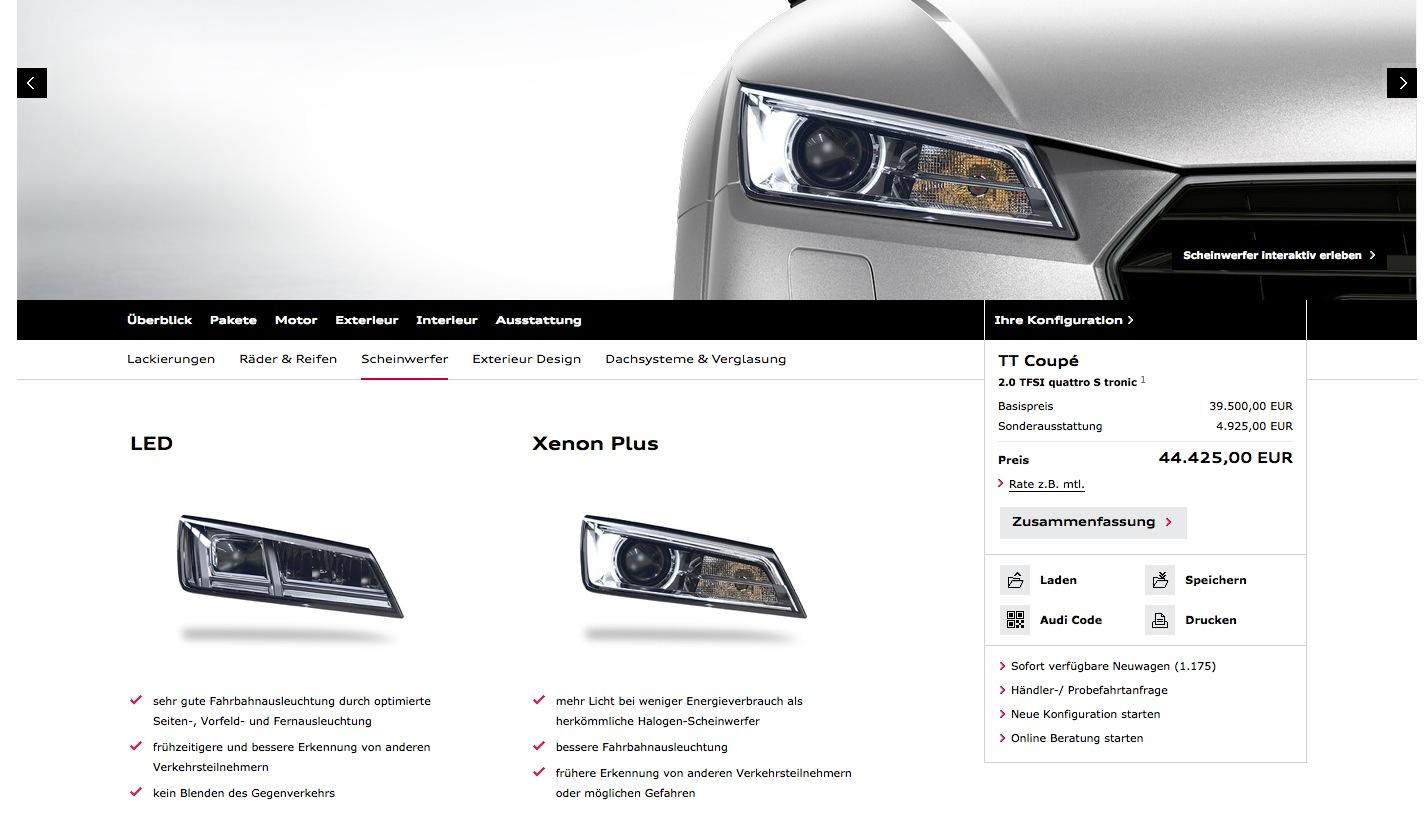AllNew Audi TT Configurator Launched Autoevolution - Audi car configurator