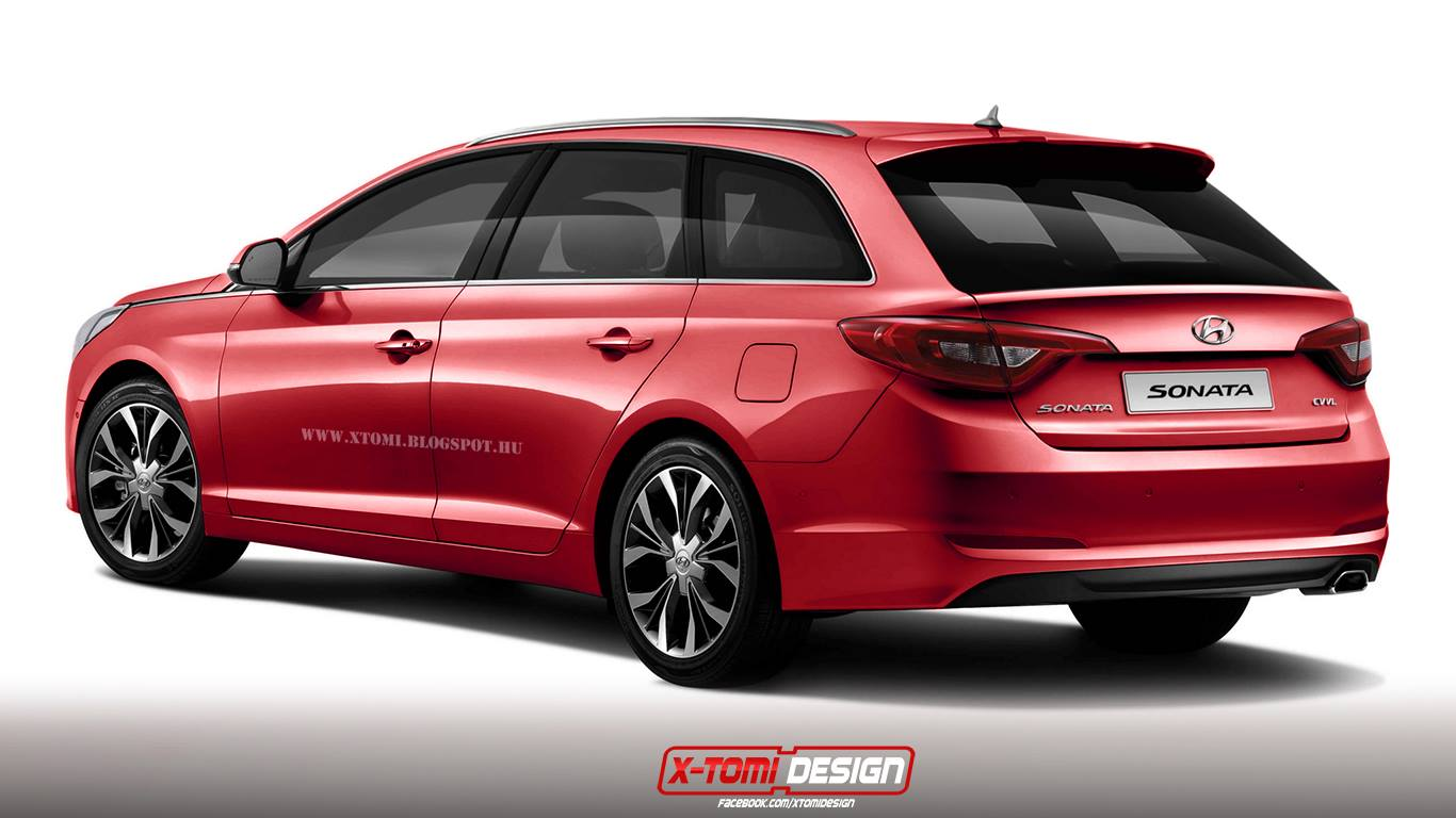 all new 2015 hyundai sonata wagon rendered could become. Black Bedroom Furniture Sets. Home Design Ideas