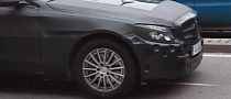 All-New 2015 Mercedes C-Class Stuck in Stuttgart Traffic [Video]