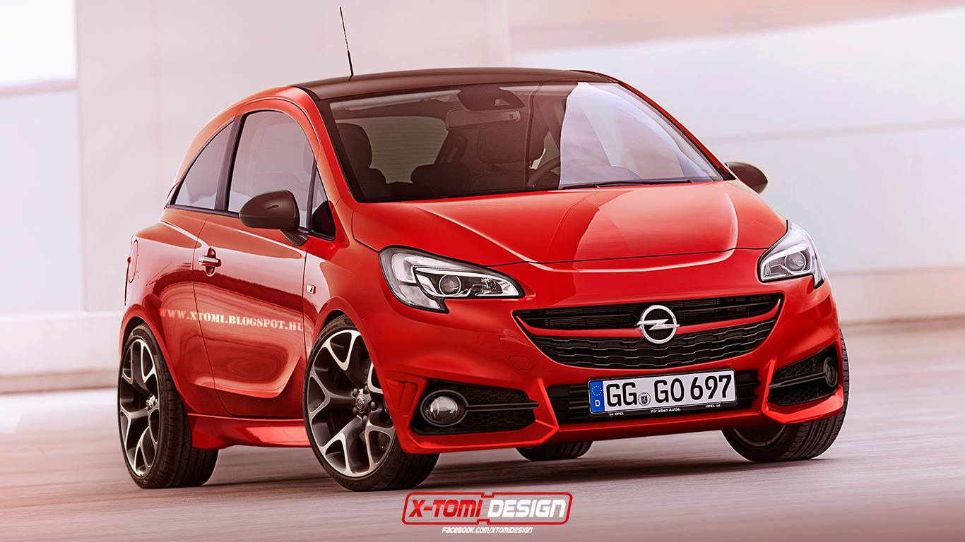 all new 2015 opel corsa opc rendered autoevolution. Black Bedroom Furniture Sets. Home Design Ideas