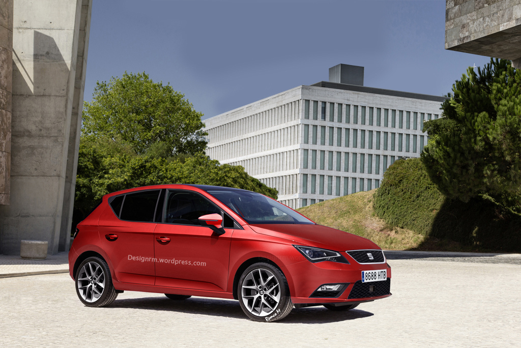 all new 2016 seat ibiza previewed by fresh rendering autoevolution. Black Bedroom Furniture Sets. Home Design Ideas