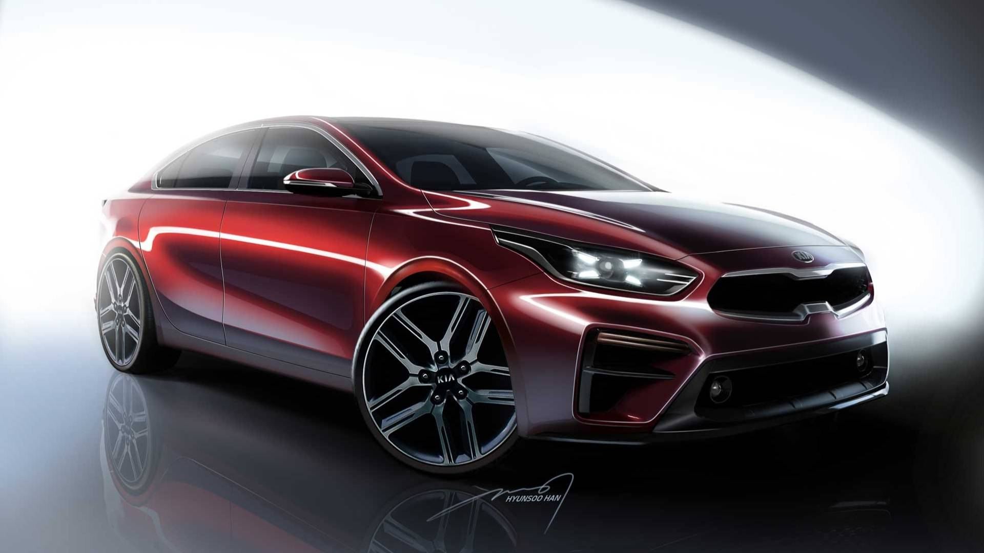 All New 2019 Kia Forte Borrows Swept Back Look From The Stinger