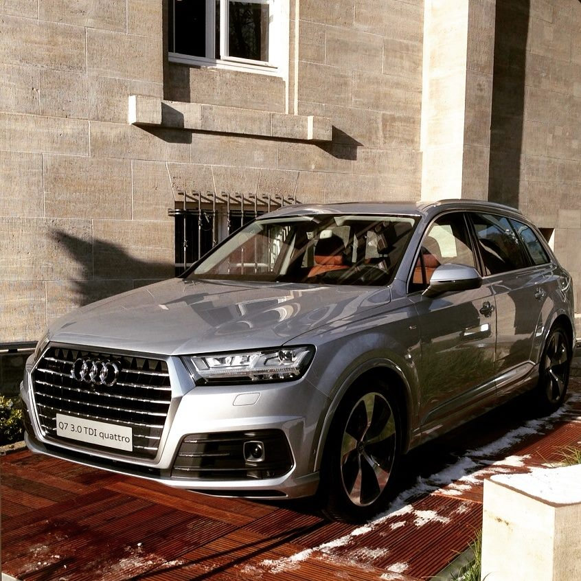 All New Audi Q7 Spotted In Berlin Displayed During Film Festival