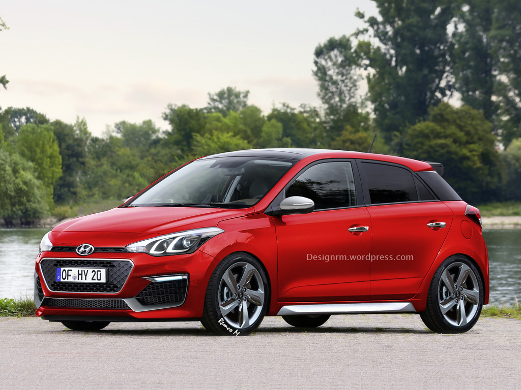 lastcarnews all new hyundai i20 rendered as n rated hot hatch. Black Bedroom Furniture Sets. Home Design Ideas
