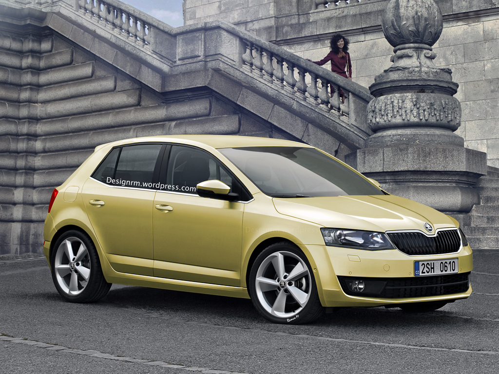 all new skoda fabia 3 previewed by rendering autoevolution. Black Bedroom Furniture Sets. Home Design Ideas
