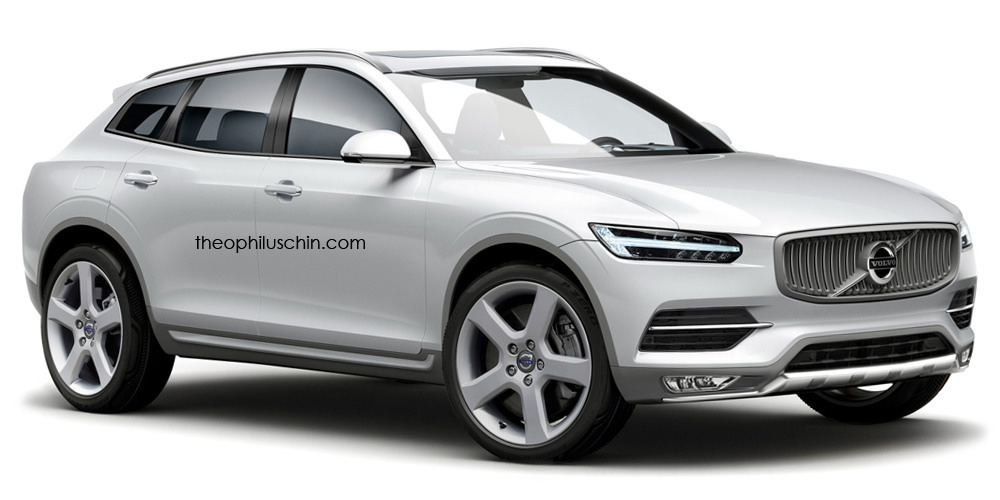All New Volvo XC90 Rendered with y Coupe Roofline