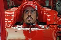 Fernando Alonso tries out the new Ferrari F150