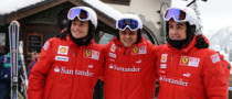 Alonso, Massa Hit the Ski Slopes in Madonna di Campiglio, Pictures!