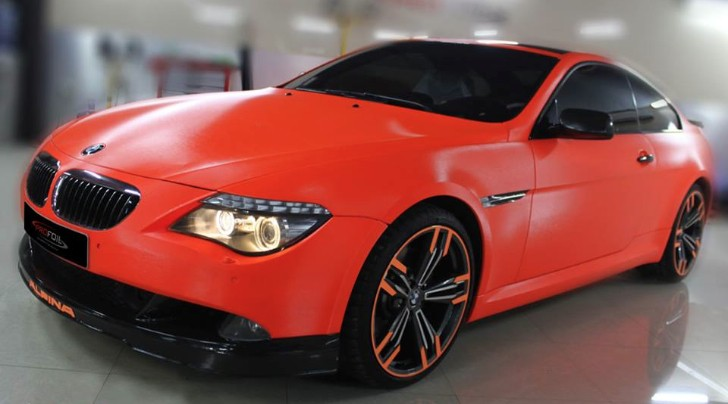 Alpina B6 BiTurbo Turns Fluorescent Orange