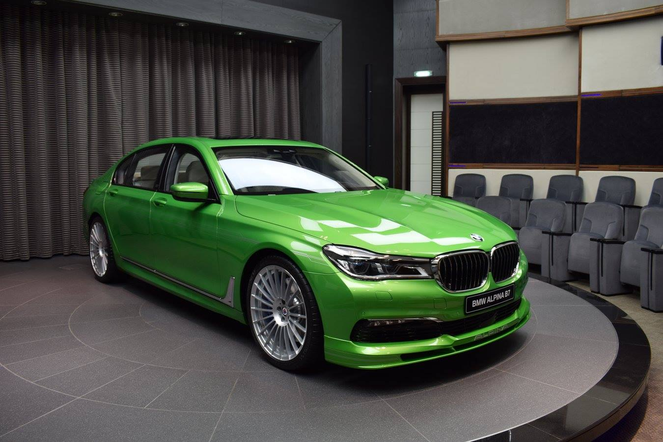 Alpina B7 Painted in Java Green Metallic Gets All the Attention