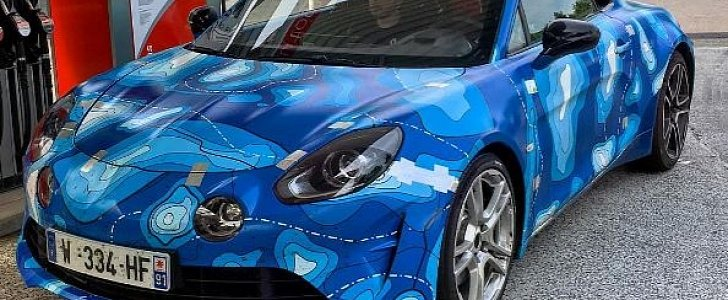 Alpine A110 Spotted At Nurburgring Gas Station Ready To