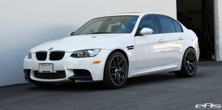 Alpine White BMW E90 M3 Gets New Brakes at EAS [Photo Gallery]