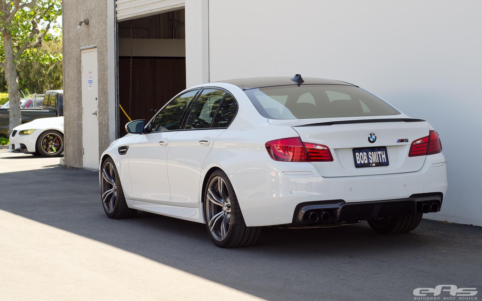 Alpine White BMW M5 Receives The Carbon Treatment At EAS