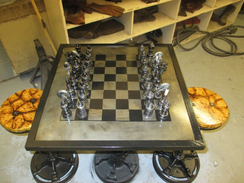 Amateur Mechanic Builds Chess Set Out of Old Car Parts: Which One Is ...
