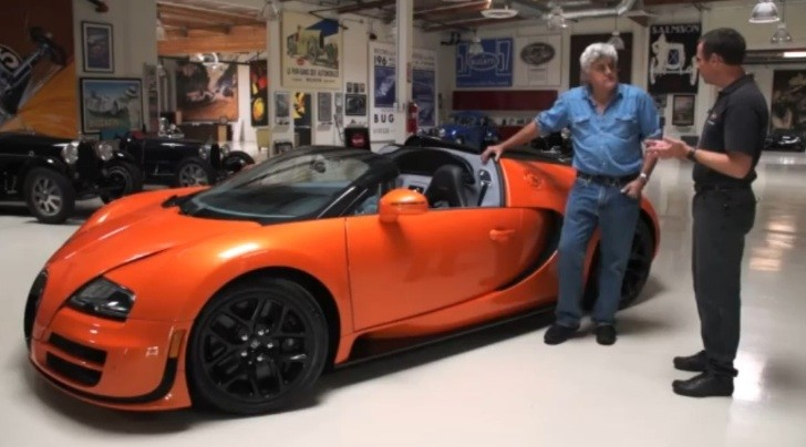 amazing bugatti veyron gs vitesse driven by jay leno video autoevolution. Black Bedroom Furniture Sets. Home Design Ideas