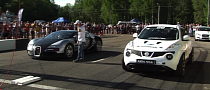 Amazing Drag Race: Nissan Juke R vs Bugatti Veyron [Video]