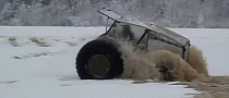 Amazing Homemade All-Terrain Vehicle Treads on Thin Ice [Video]