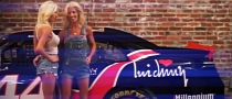 Amber and Angela Cope NASCAR Twins Pose [NSFW Video]