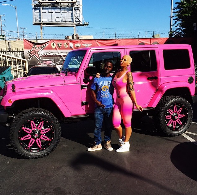 Amber Rose Turns Her Off Roader Into Barbie S Pink Jeep