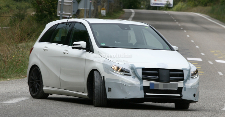 AMG-Version of the B-Class Caught Testing [Photo Gallery]