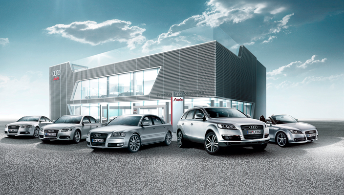 and the award for the biggest audi showroom goes to autoevolution. Black Bedroom Furniture Sets. Home Design Ideas
