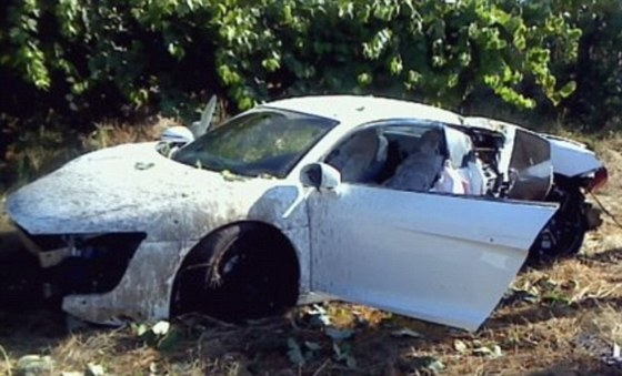 Anderson S Audi R8 A Wreck After Portugal Crash