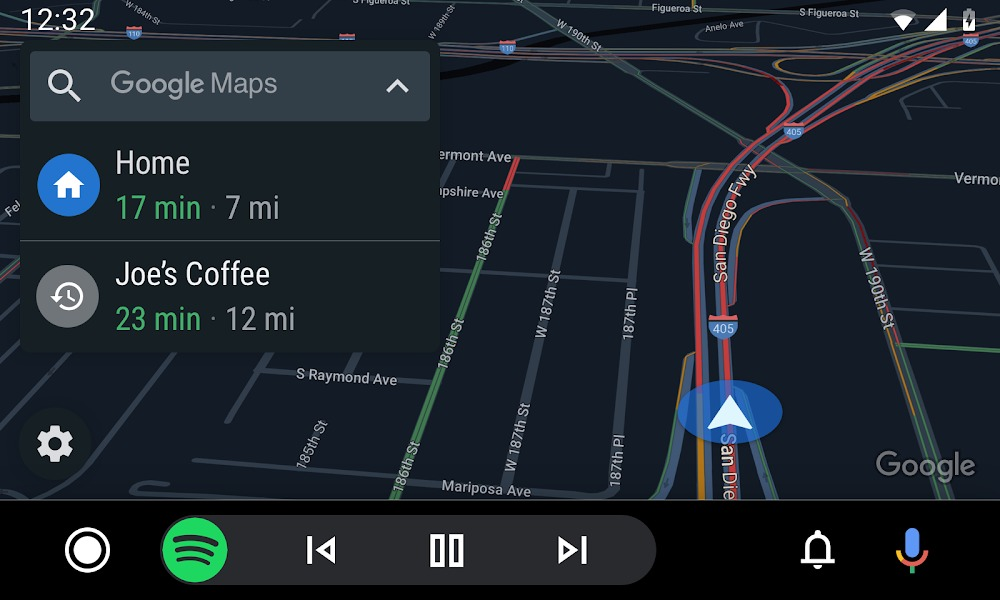 Google Maps en Android Auto