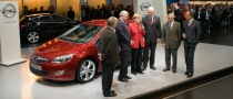 Angela Merkel Visits Opel at Frankfurt