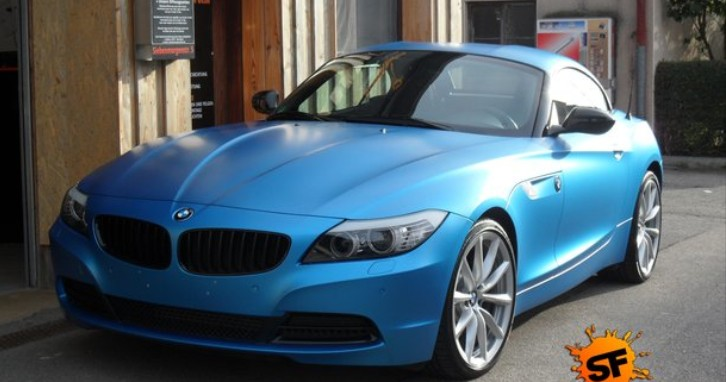 Anodized Matte Blue E89 BMW Z4 by Schwaben Folia [Photo Gallery]