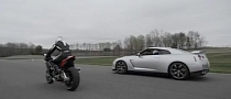 Aprilia RSV4 Challenges Nissan GT-R On Monticello Track [Video]