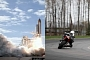 Aprilia RSV4 vs. Space Shuttle, Bike Wins... Sort Of [Video]
