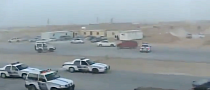 Arab Drifting Crash, with Police Chase [Video]