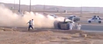 Arab Drifting Wild Crash [Video]