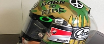 "Arai RX-7 GP ""Hayden Peace"" Replica Helmet Available in Limited Run"