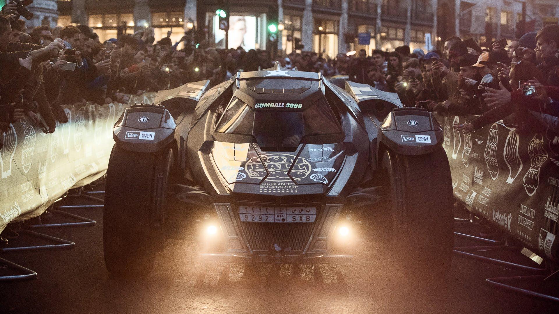 Arkham Knight Batmobile With Lambo V10 Races At 2016