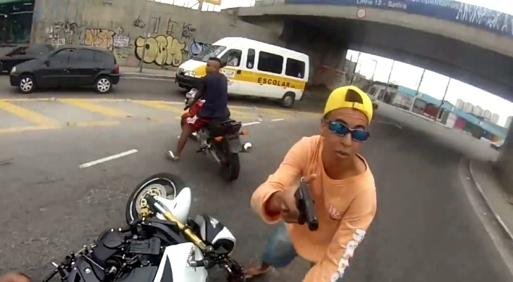 Armed Motorcycle Thief Shot by Police
