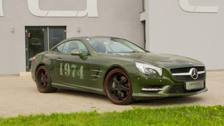Army-Look Mercedes-Benz SL 500 by Upsolute is no Recruit