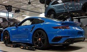 Arrow Blue Porsche 911 Turbo S With Carbon Wheels Looks