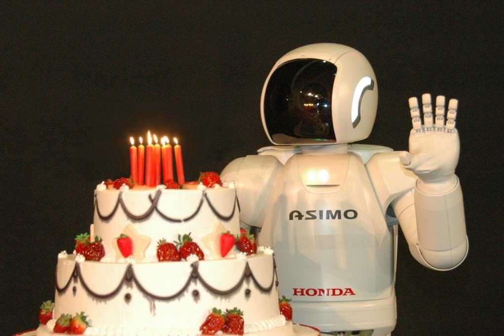 Prime Asimo Robot Turns 10 Honda Bakes A Cake Autoevolution Personalised Birthday Cards Epsylily Jamesorg