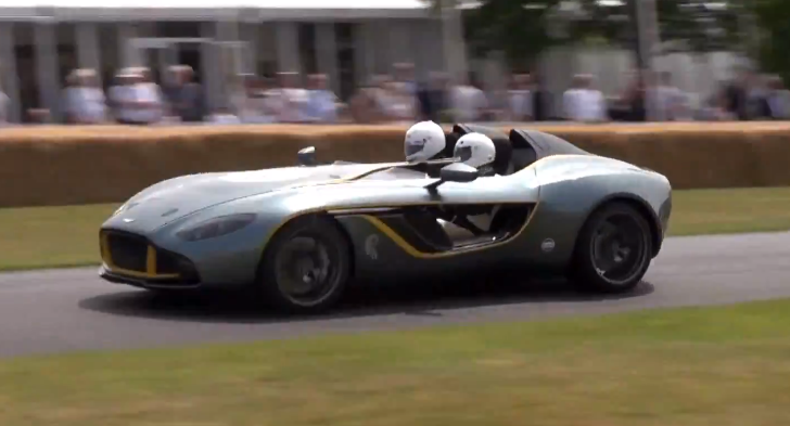 Aston Martin CC100 Awesome Flybys at Goodwood 2013 [Video]