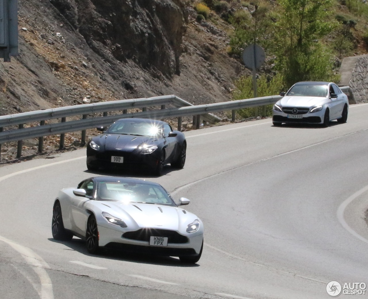 Black And White Aston Martin Db11 Pair Spotted In Spanish Traffic Autoevolution